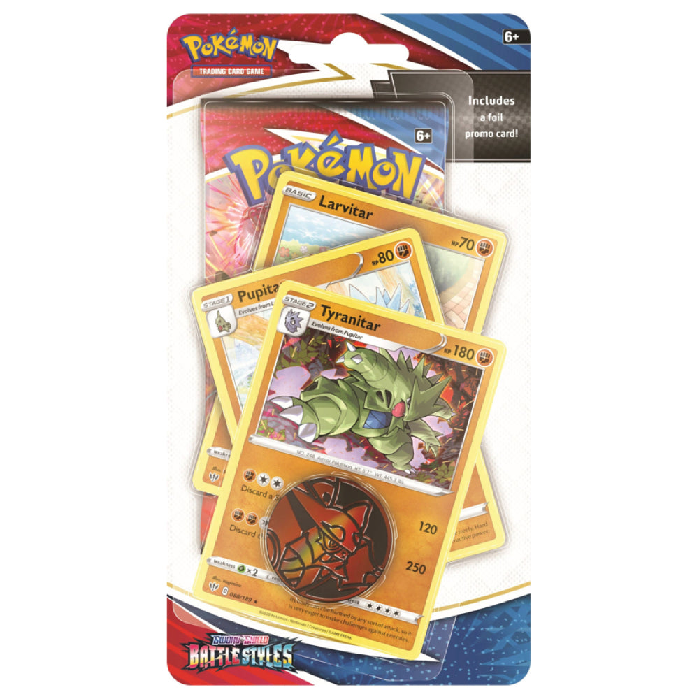 Pokemon Battle Styles Premium Checklane Blister Pack | Tyranitar