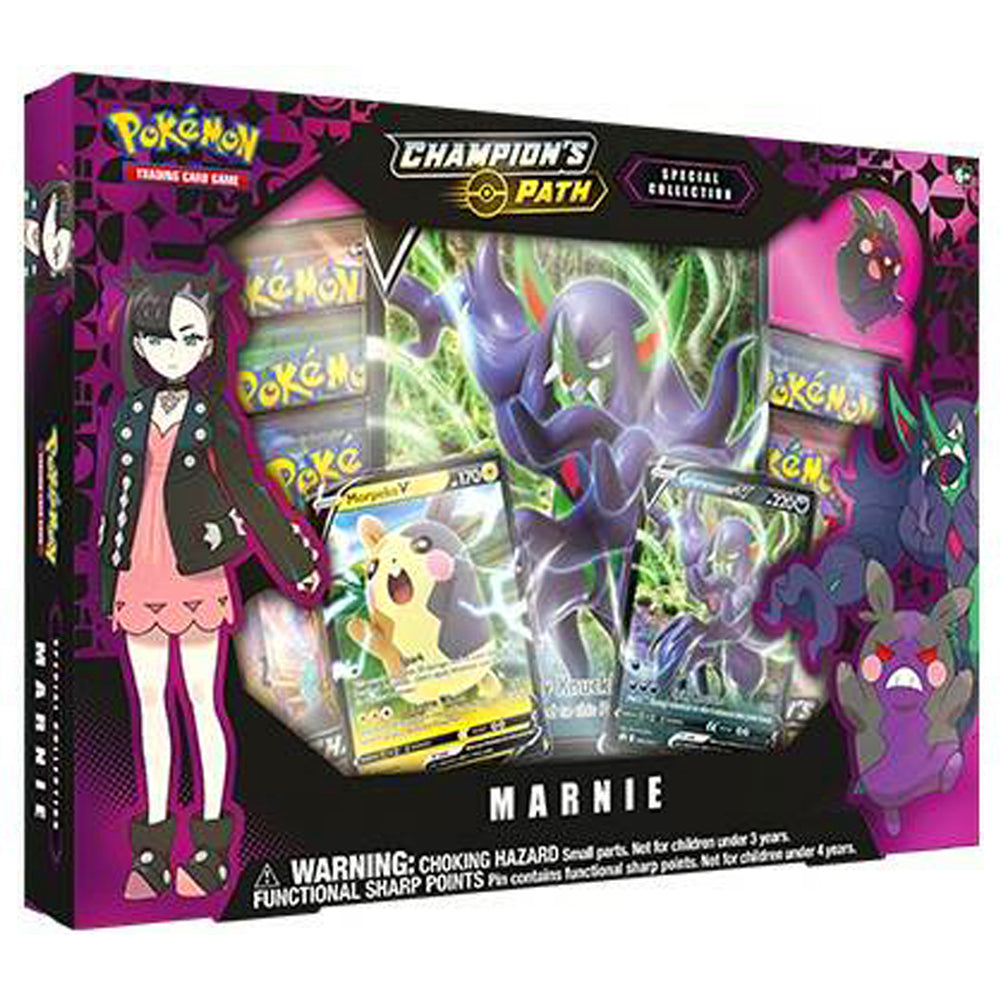Pokemon Cards, Pokemon Trading Cards, Sword and Shield, Champion's Path, Marnie Special Collection