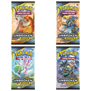 Pokemon Sun & Moon | Unbroken Bonds 4x booster packs artwork set