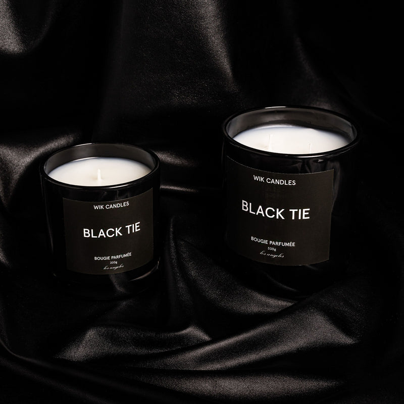 Black Tie Candle - Wik Candles