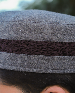 WC006-GREY WITH CHOCOLATE BROWN