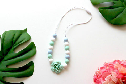 Charmed For Kids ~ Pretty Mint Rose Necklace