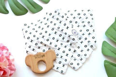 Gift Pack - New Bubba Chew Muslin Bibs (2 Pack) + Wooden Koala Teether