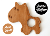 Handmade Wooden Toys - New Bubba Chew Natural Wooden Horse Teether Toy