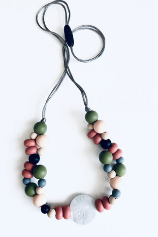 New Bubba Chew Silicone Necklace - Autumn Bubbles