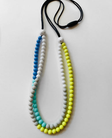 New Bubba Chew Silicone Necklace - Citrus zest