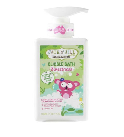 Jack N' Jill Sweetness Bubble Bath, Natural Bath Time 300ML