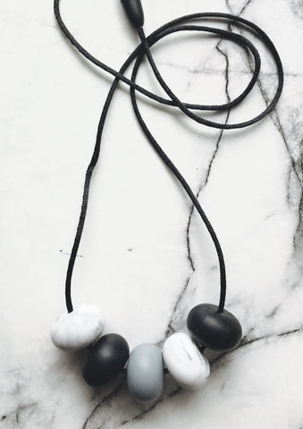 Necklace - New Bubba Chew Abacus Beads Grey And Black