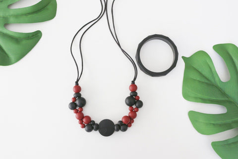 Necklace - New Bubba Chew - Red Pear Bubbles