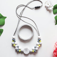 Necklace - New Bubba Chew Silicone Necklace - Marble Bubbles