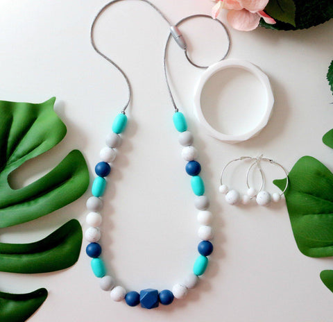 NEW! Bubba Chew - Spring Rain Silicone Necklace