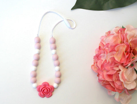 Necklace - New Charmed For Kids ~ Pink Posy
