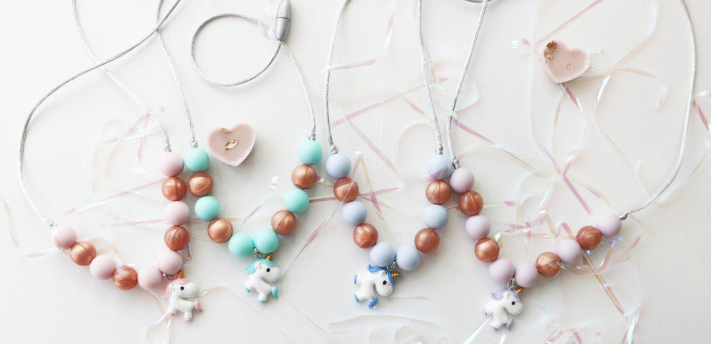 Silicone Necklaces - Charmed For Kids ~ NEW Magical Unicorn Necklace