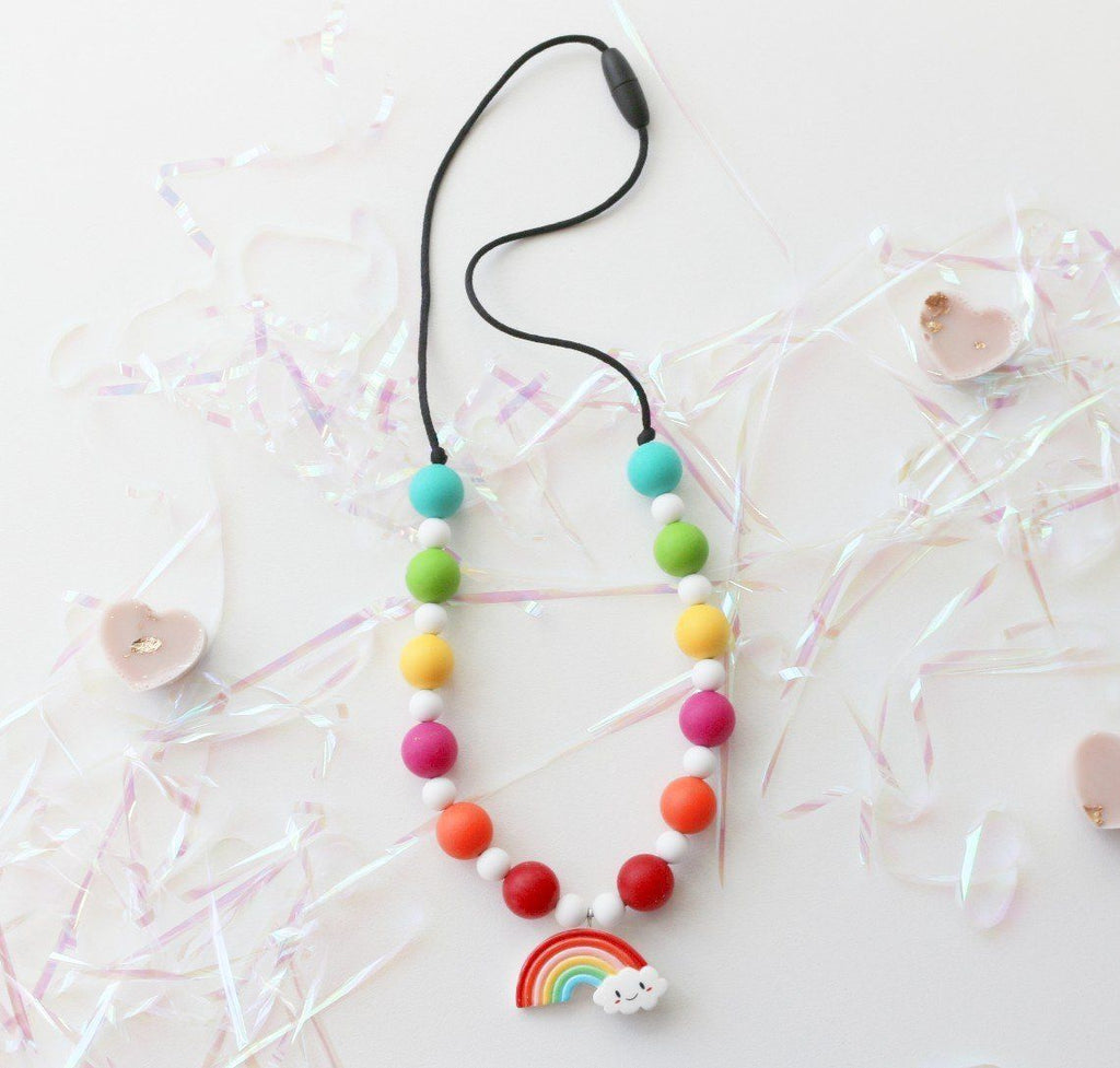 Silicone Necklaces - Charmed For Kids ~ Rainbow Necklace