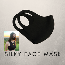 Load image into Gallery viewer, Black Silky Face Mask