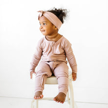 Load image into Gallery viewer, Rosewood Ribbed Zip Romper