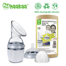 Load image into Gallery viewer, Haakaa Silicone Breast Pump & Bottle Set - Gen. 3