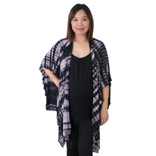 Load image into Gallery viewer, Open Nursing Shawl - Midnight Shibori