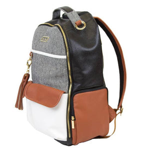 Itzy Ritzy Boss Diaper Bag Backpack - Coffee & Cream