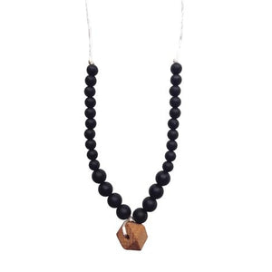 The Collins - Black Teething Necklace