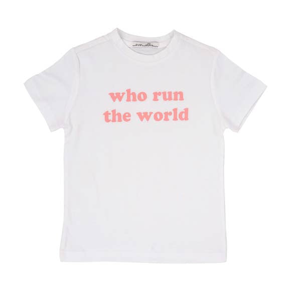 Who Run The World Kids Tee
