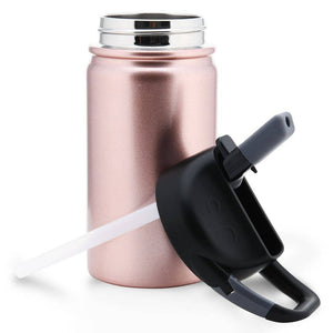 12 oz lil SIC Rose Gold Stainless Steel Kids Water Bottle