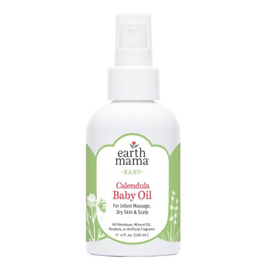 Earth Mama Calendula Baby Oil - 4 fl. oz.