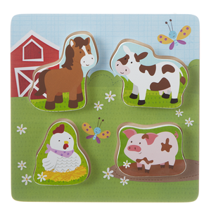 Happy Hill Farm Wooden Puzzle