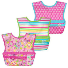 Load image into Gallery viewer, Green Sprouts Snap & Go Easy Wear Bibs (3-pk)