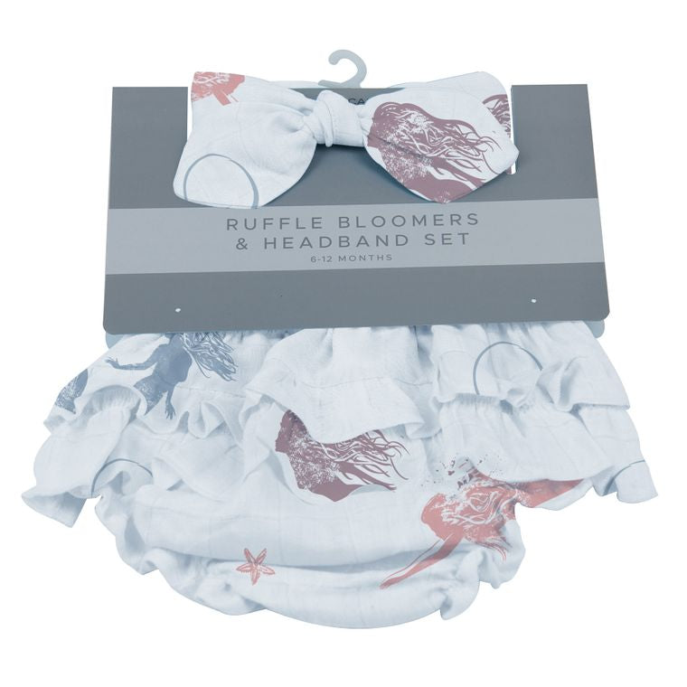 Newcastle Under the Sea Ruffle Bloomers & Headband Set