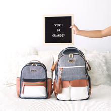 Load image into Gallery viewer, Coffee & Cream Itzy Mini Diaper Bag Backpack