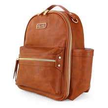 Load image into Gallery viewer, Cognac Itzy Mini Diaper Bag Backpack