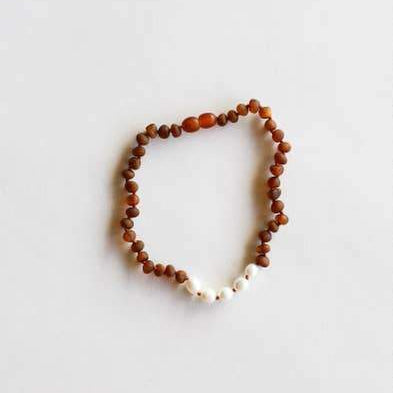 CanyonLeaf Raw Cognac Amber + Pearls (Infant)