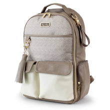 Load image into Gallery viewer, Itzy Ritzy Vanilla Latte Boss Diaper Bag Backpack
