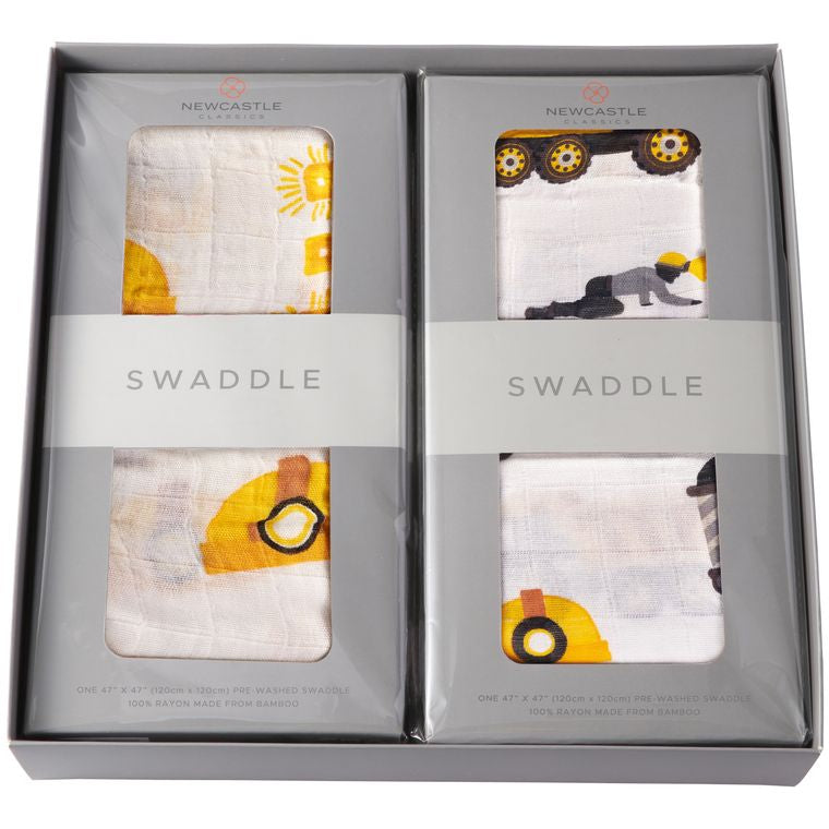 Newcastle Hard Hats & Diggers Swaddle Set