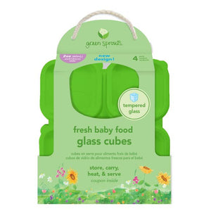 Green Sprouts Fresh Baby Food 2oz Glass Cube Set