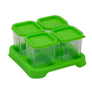 Green Sprouts Fresh Baby Food 4oz Glass Cube Set