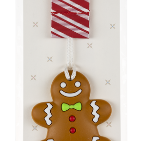 Gingerbread Silicone Teething Clip