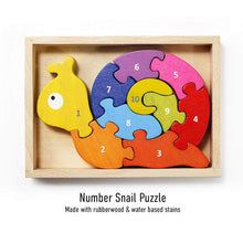Load image into Gallery viewer, Number Snail Puzzle