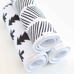 Dolly Lana Burp Cloth Set - Monochrome
