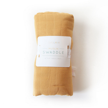 Load image into Gallery viewer, Dolly Lana Muslin Swaddle - Mustard