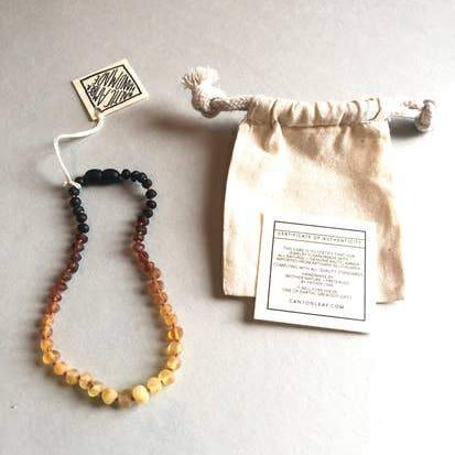 CanyonLeaf Raw Ombre Amber Necklace