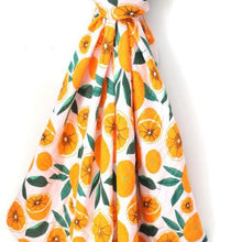 Load image into Gallery viewer, Dolly Lana Muslin Baby Swaddle - Oranges