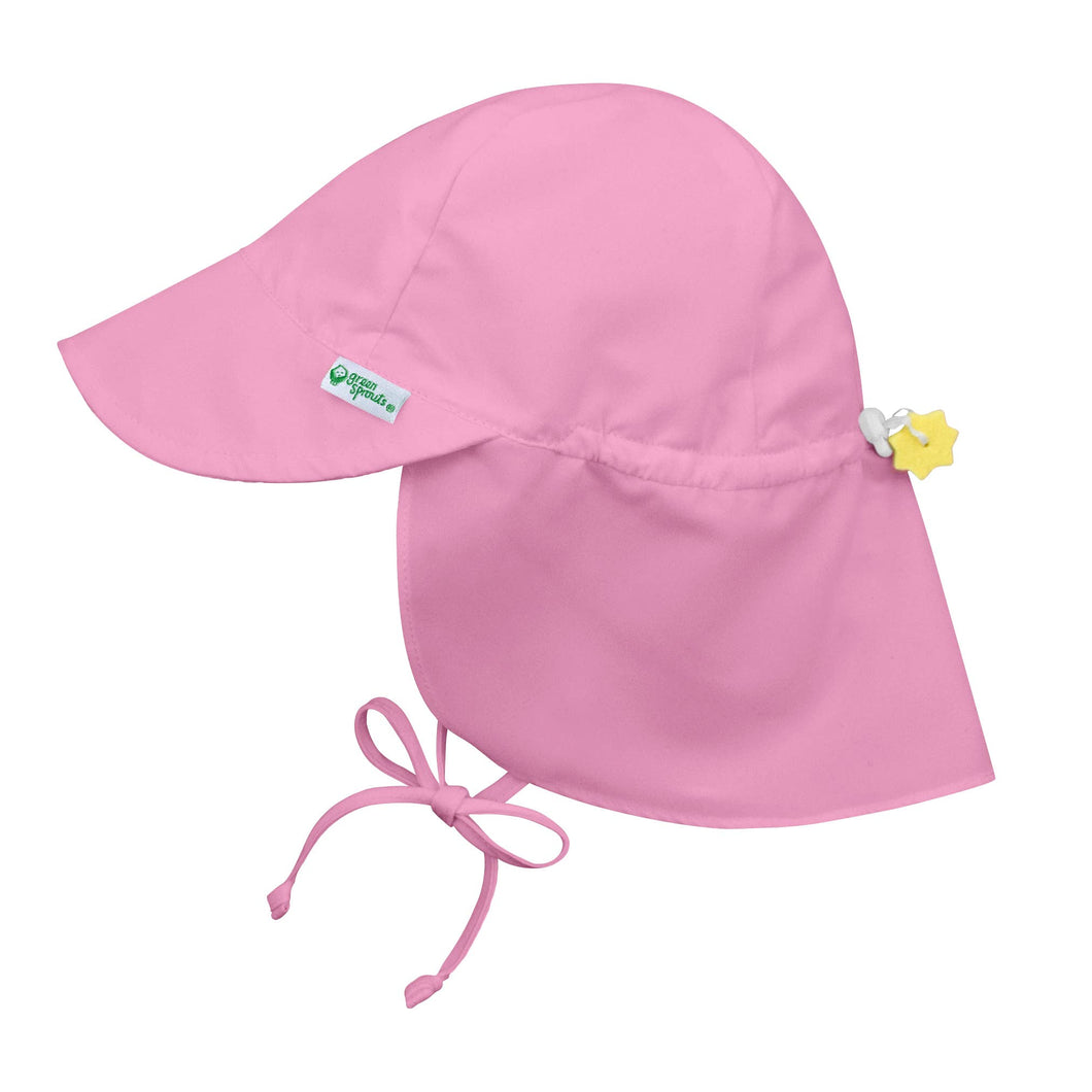 Flap Sun Protection Hat - Light Pink
