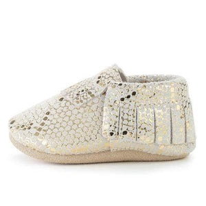 Rattlesnake Genuine Leather Baby Moccasins