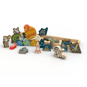 Space A to Z Puzzle and Play Set