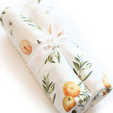 Load image into Gallery viewer, Dolly Lana Knit Swaddle - Tangerine Fruit