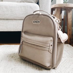 Taupe Itzy Mini Diaper Bag Backpack