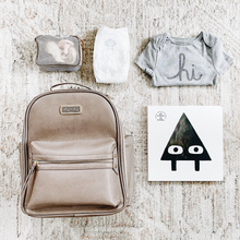 Load image into Gallery viewer, Taupe Itzy Mini Diaper Bag Backpack