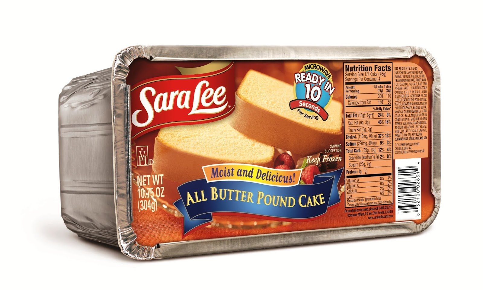 bah>Sara Lee Pound Cake, 16oz
